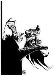 Bats_Joker_Harley pin up by MinckOosterveer