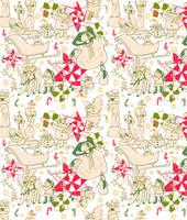 Christmas Elves Pattern by boniae