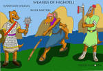 Weasels of Highdell by Woaddragon