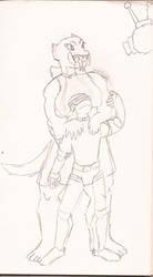 Unusaual couple by Woaddragon