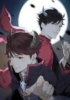 Haikyuu!!: Oikawa and Kuroo by Monsohot