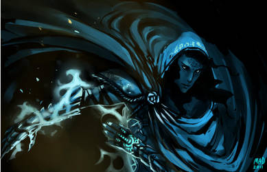 Blue Rose by madnessdemon