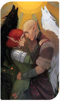 Commission: Scarlet x Solas by madnessdemon