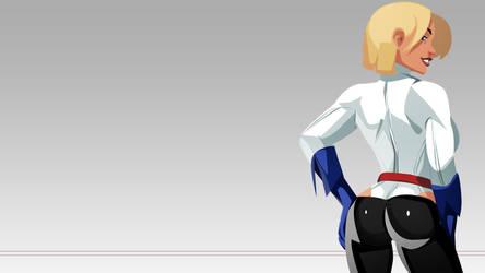 Power Girl Pants Wallpaper by morganagod