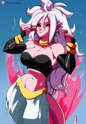 Majin Android 21 by morganagod