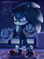 Sonic the Werehog- Chibi by BloodRain98