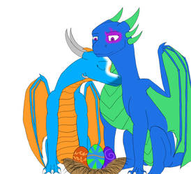 New parents (note, to those who commissioned me) by Dantedragon