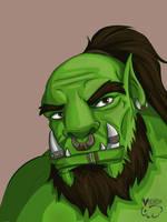 Warcraft Orc Color Practice by vikhop