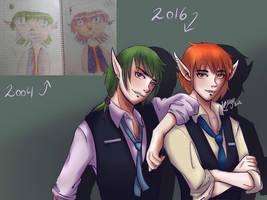 Devil Twins (Draw this again) by vikhop