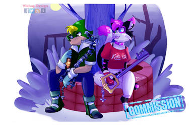 Commission - Chilling at night by vikhop