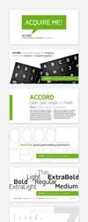 Accord Font Family at MyFonts by akkasone