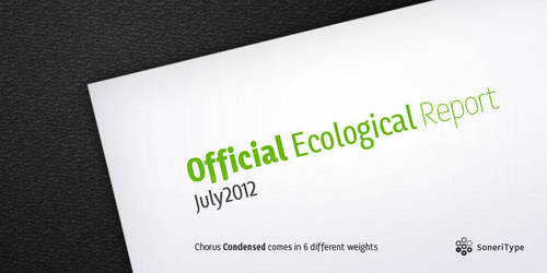 Chorus Condensed Typeface Teaser Preview by akkasone