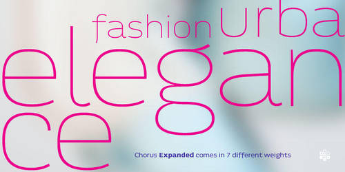 Chorus Expanded Typeface Teaser Preview by akkasone