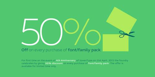 SoneriType's 4th Anniversary Offer by akkasone
