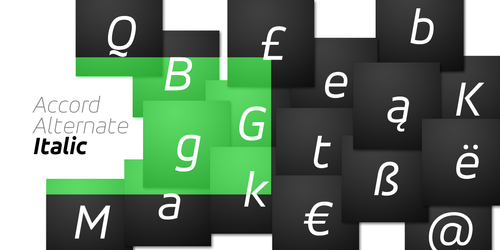 Accord Alternate Italic typeface by akkasone