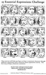 25 Expression Challenge Elise by Striogi