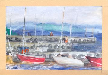 Yachts in Krynica Morska by Calealdarone