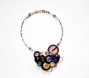 necklace with buttons by Thelastsushi