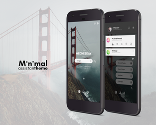 Minimal Assistant Theme for KLWP by marcco23
