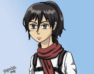 Mikasa 19 Y.o by Dayumbruh