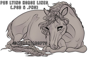 Sweet Lying Horse Lines [P2U] by MerakiAdopts