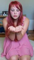 Rixu-stock. Pink Dress. Blow. by Rixu-stock