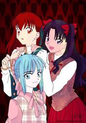 three girls by MyArt1992