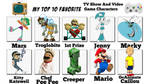 Top 10 My Favorite Characters by NewFloatyGTS