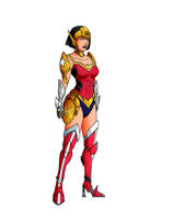 Ultimate-style Wonder Woman Fembot by Dvega by Master-Geass