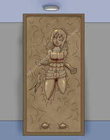 Sheila Frozen in Carbonite by Master-Geass