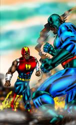 CAP VS BRUTE by ARTISTBAKER2011
