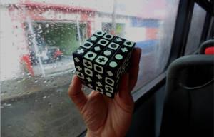 Rubik Cube 4x4 Stickers Glow in the Dark by LESHUU