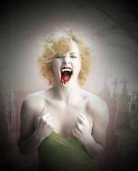 Charlize Theron Vampirization by lovewillbiteyou
