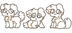 f2u floofy dog bases by paw-kitten