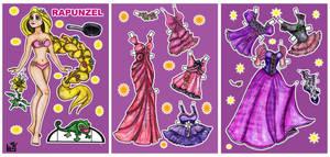 Rapunzel paper doll. by Mauau