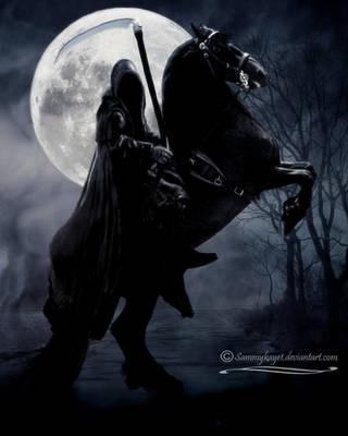 Death Rides A Black Horse by sammykaye1