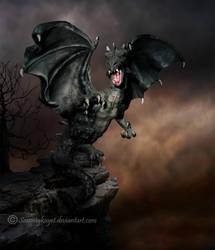 Dark Dragon by sammykaye1