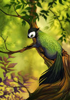 Forest trickster by golden-marrow