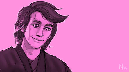 Pink Smiling Anakin by Melvin-Groenendijk