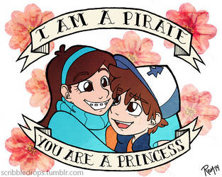 I am a pirate // You are a princess by dinosaurjam