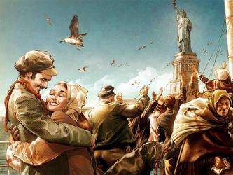 Ellis Island by TamasGaspar