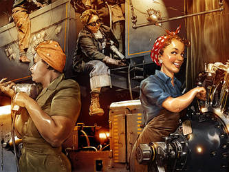 Rosie the Riveter by TamasGaspar