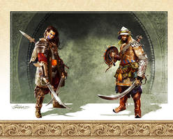 Keeper and Gladiator by TamasGaspar