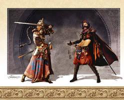 Assasin and Bounty Hunter by TamasGaspar