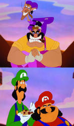 ''Weh heh, its the Stinken' Mario Bros!'' by Kosperry