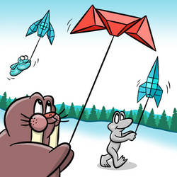 ZeroVector Kites by markbredius