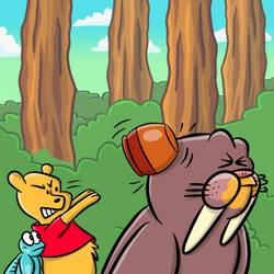 Angry Pooh by markbredius