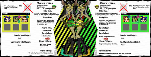 Shanay and Meray the Werehynea Sisters Bio by JanelleMeap