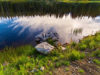 Long Lake Reflection by Ben754