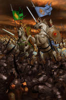 Nirnaeth Arnoediad.Turgon and Glorfindel by ivanalekseich